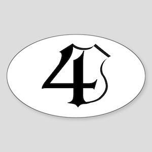4 Cops Oval Sticker