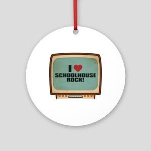 Retro I Heart Schoolhouse Rock! Round Ornament