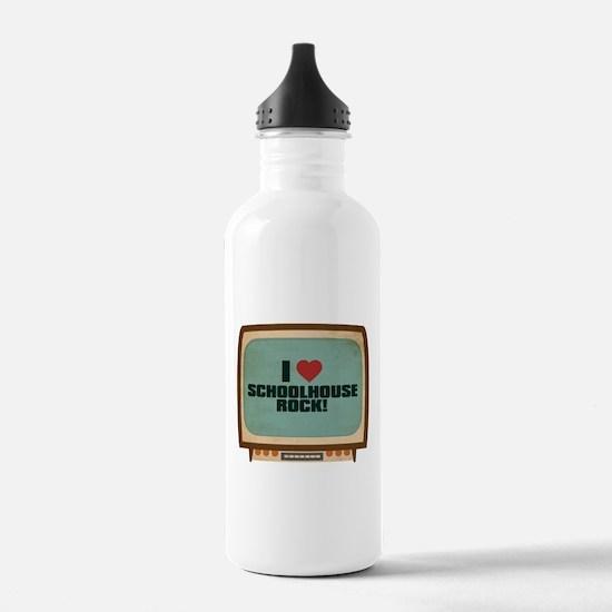 Retro I Heart Schoolhouse Rock! Sports Water Bottle