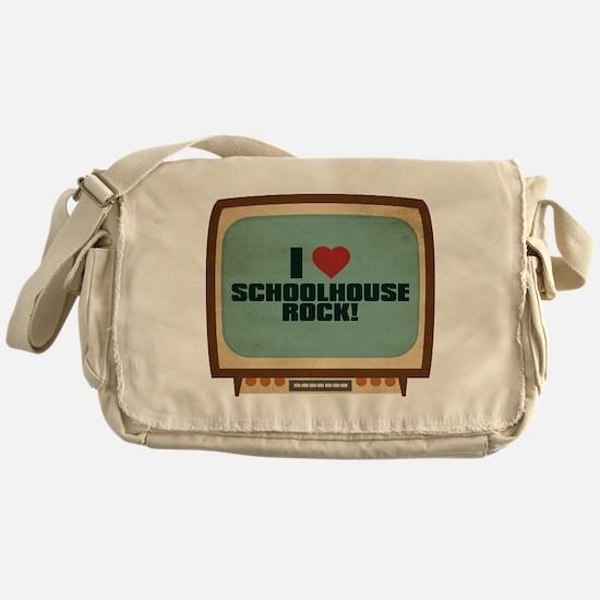 Retro I Heart Schoolhouse Rock! Canvas Messenger B