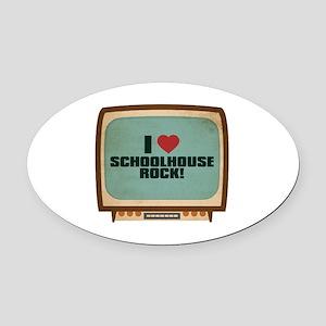 Retro I Heart Schoolhouse Rock! Oval Car Magnet
