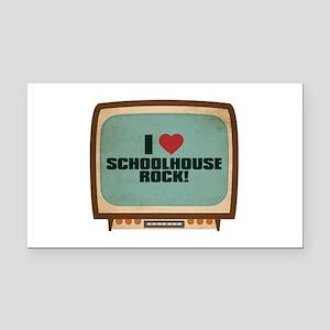 Retro I Heart Schoolhouse Rock! Rectangle Car Magn