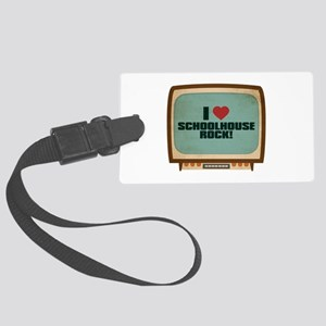 Retro I Heart Schoolhouse Rock! Large Luggage Tag