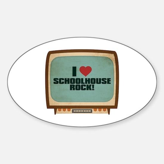 Retro I Heart Schoolhouse Rock! Oval Decal