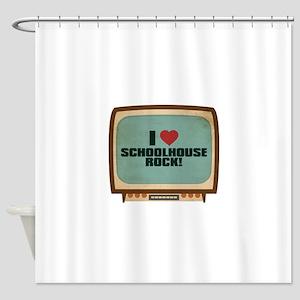 Retro I Heart Schoolhouse Rock! Shower Curtain