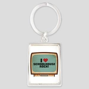 Retro I Heart Schoolhouse Rock! Portrait Keychain