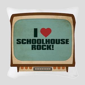 Retro I Heart Schoolhouse Rock! Woven Throw Pillow