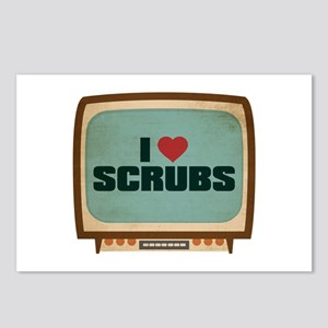 Retro I Heart Scrubs Postcards (Package of 8)