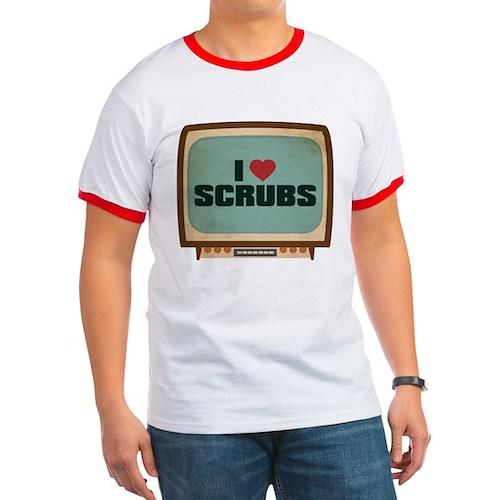 Retro I Heart Scrubs Ringer T-Shirt