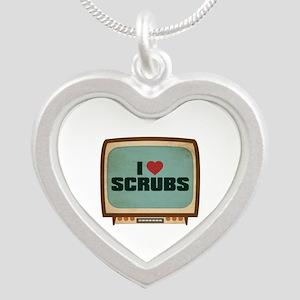 Retro I Heart Scrubs Silver Heart Necklace
