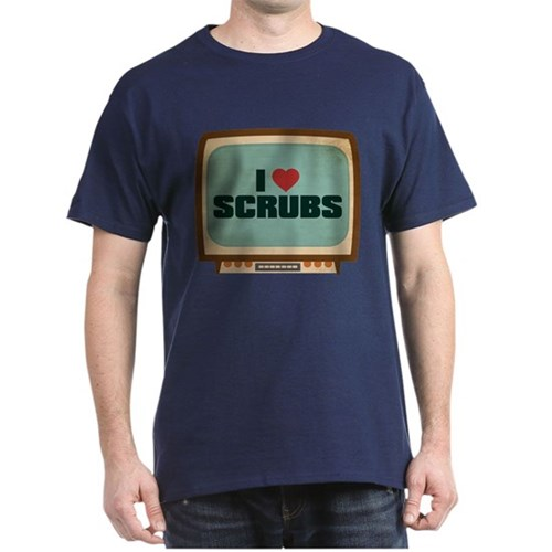 Retro I Heart Scrubs Dark T-Shirt