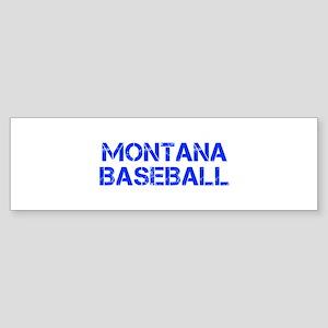 MONTANA baseball-cap blue Bumper Sticker