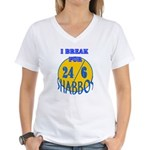 TALMUDIC TEE-CHINGS SHABBAT Women's V-Neck T-Shirt