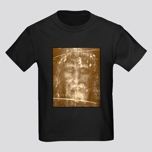Shroud of Turin Kids Dark T-Shirt