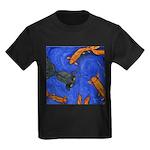 Happy Swimming Goldfish Kids Dark T-Shirt