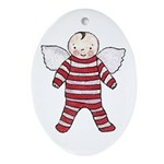 'Angel Baby' Oval Ornament