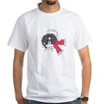 Holiday Pomeranian White T-Shirt