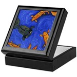 Happy Swimming Goldfish Keepsake Box