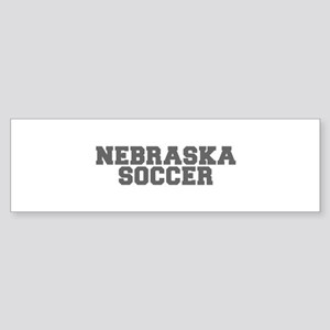 NEBRASKA soccer-fresh gray Bumper Sticker