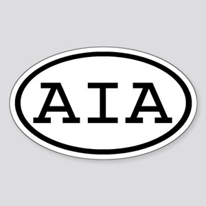 AIA Oval Oval Sticker