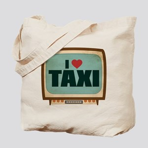 Retro I Heart Taxi Tote Bag