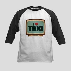 Retro I Heart Taxi Kids Baseball Jersey