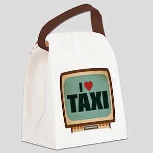 Retro I Heart Taxi Canvas Lunch Bag