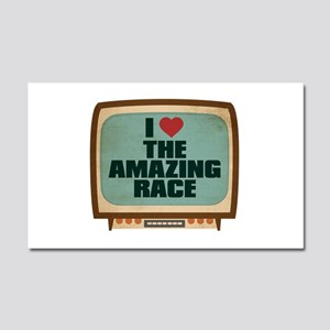 Retro I Heart The Amazing Race Car Magnet 20 x 12