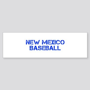 NEW MEXICO baseball-cap blue Bumper Sticker