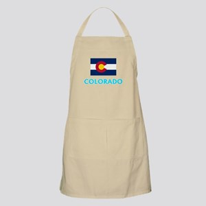 Colorado Flag Classic Blue Design Light Apron