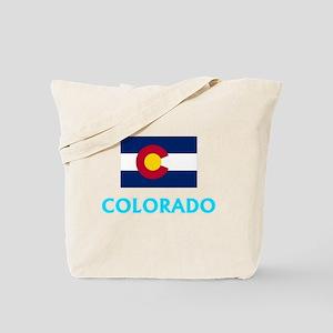 Colorado Flag Classic Blue Design Tote Bag