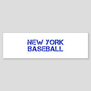 NEW YORK baseball-cap blue Bumper Sticker