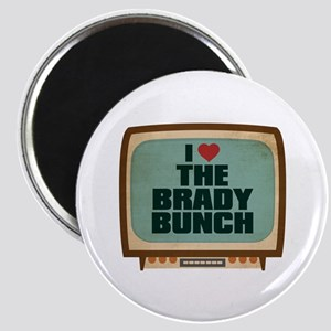 Retro I Heart The Brady Bunch Magnet