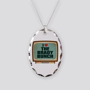Retro I Heart The Brady Bunch Necklace Oval Charm