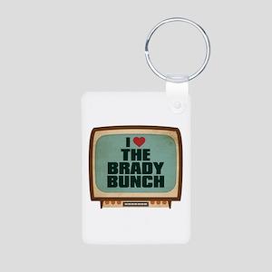Retro I Heart The Brady Bunch Aluminum Photo Keych