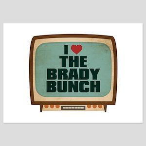 Retro I Heart The Brady Bunch 5x7 Flat Cards