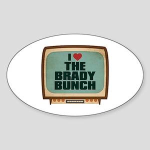 Retro I Heart The Brady Bunch Oval Sticker