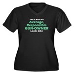 Gun-Owner Women's Plus Size V-Neck Dark T-Shirt