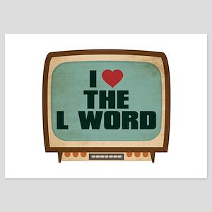 Retro I Heart The L Word 5x7 Flat Cards