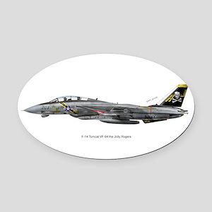 vf8414x10_print Oval Car Magnet