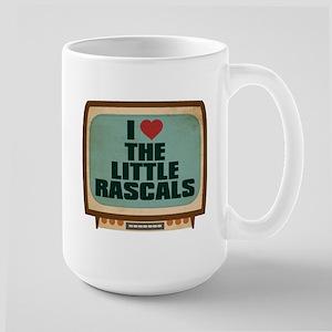 Retro I Heart The Little Rascals Large Mug