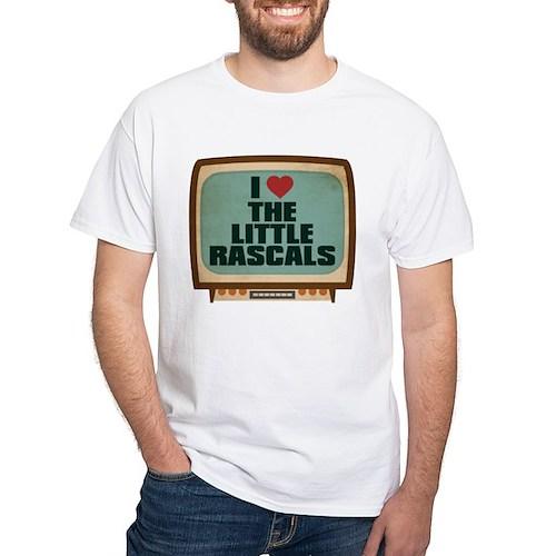 Retro I Heart The Little Rascals White T-Shirt