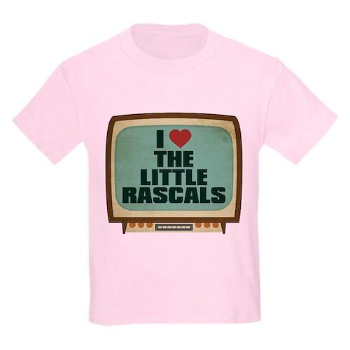 Retro I Heart The Little Rascals Kids Light T-Shir