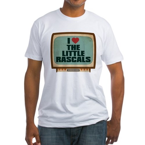 Retro I Heart The Little Rascals Fitted T-Shirt