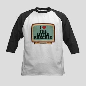 Retro I Heart The Little Rascals Kids Baseball Jer