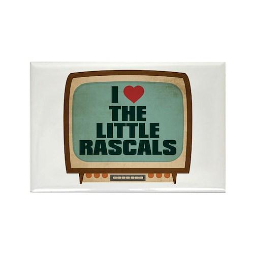 Retro I Heart The Little Rascals Rectangle Magnet