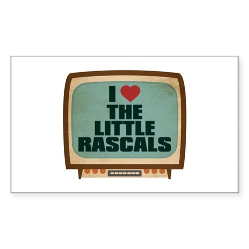 Retro I Heart The Little Rascals Rectangle Sticker