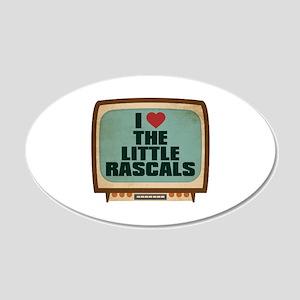 Retro I Heart The Little Rascals 22x14 Oval Wall P