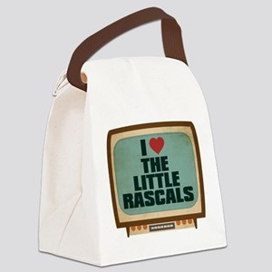 Retro I Heart The Little Rascals Canvas Lunch Bag