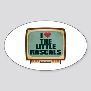 Retro I Heart The Little Rascals Oval Sticker